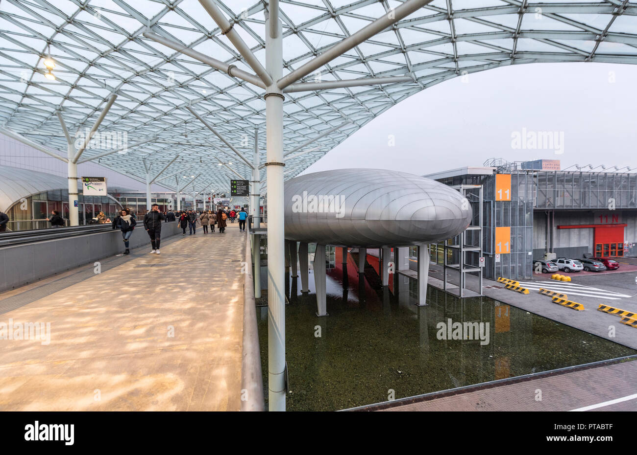 Modern pavilions of Fiera Milano. Italy - Stock Image