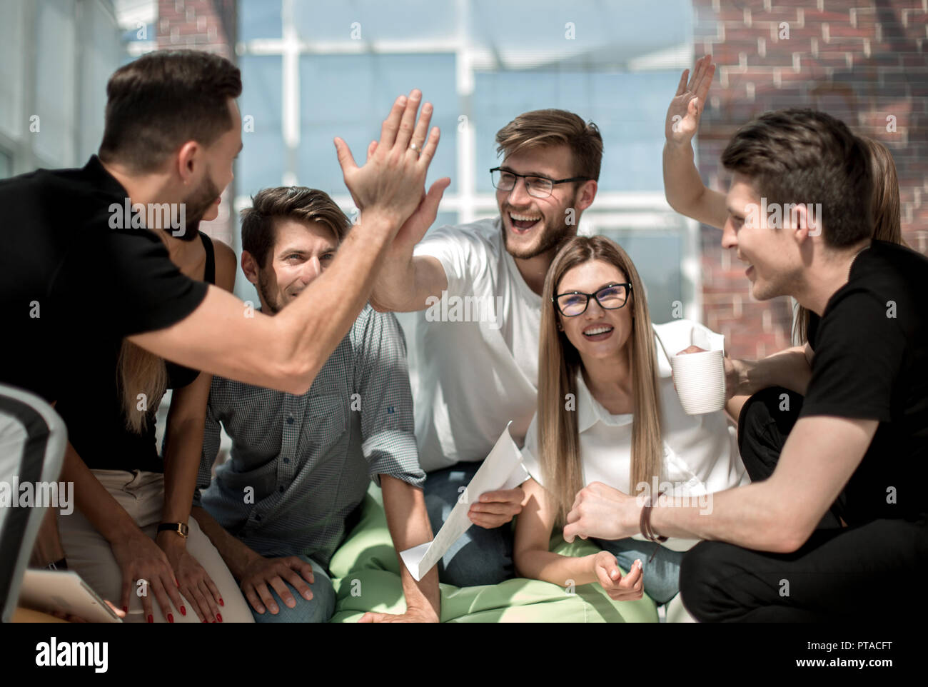 creative business team starts a new business project - Stock Image