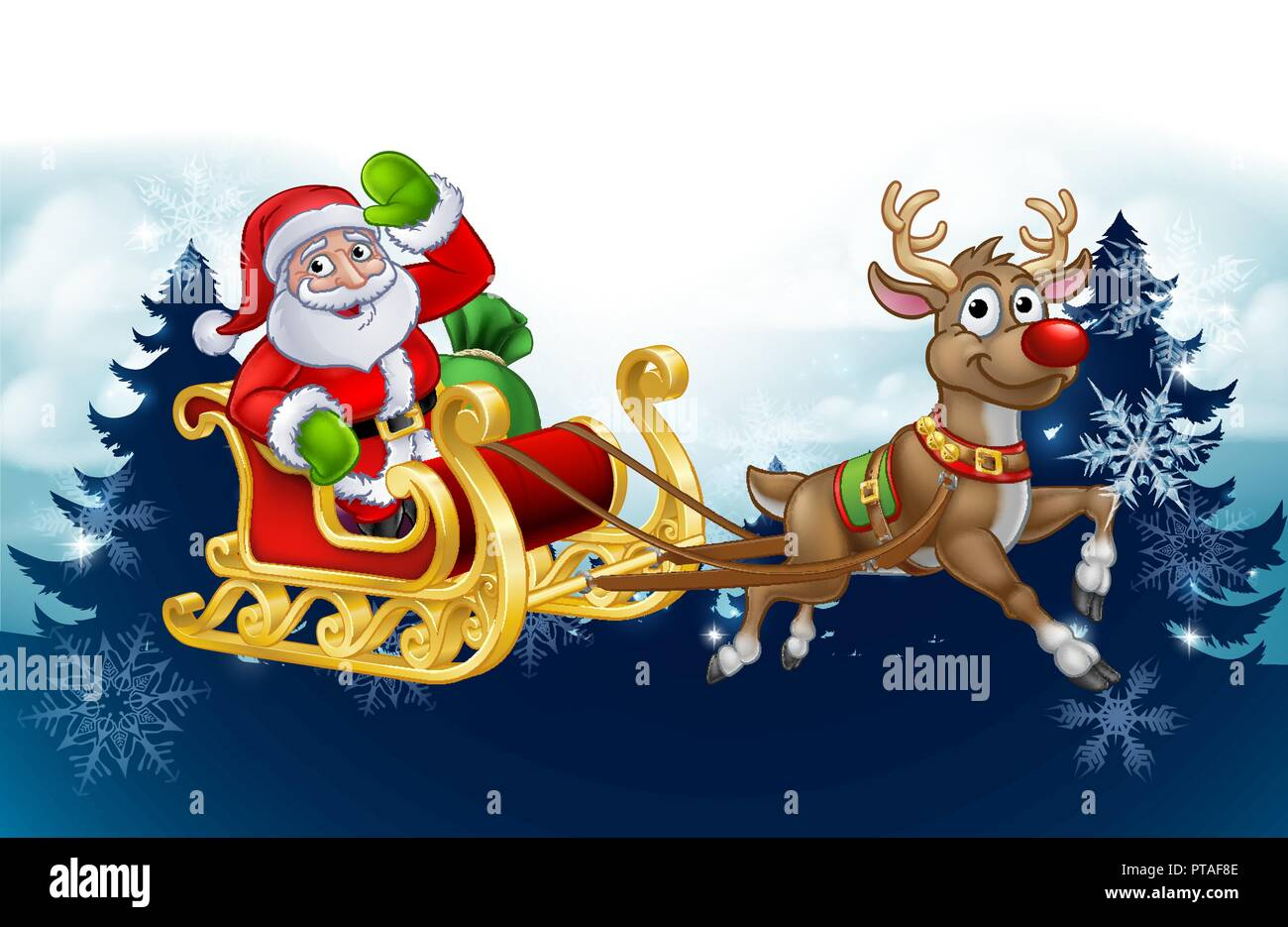 santas sleigh stock vector images alamy