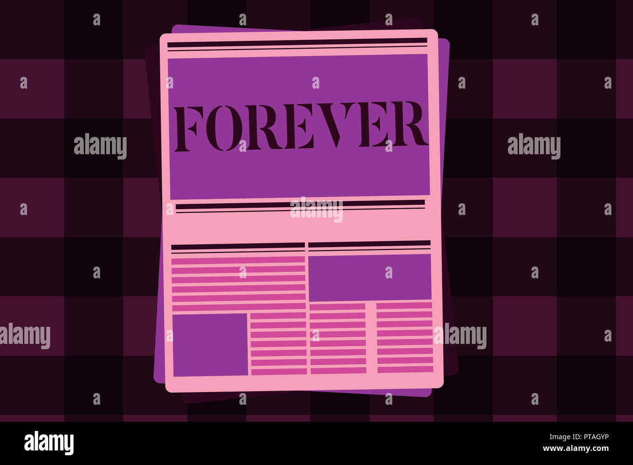 Writing note showing Forever. Business photo showcasing Everlasting Peranalysisent Always for future time endless Eternal. - Stock Image