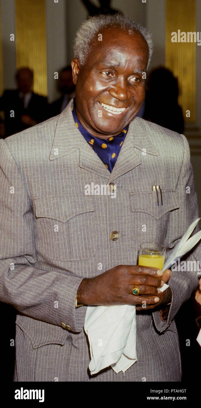 KENNETH KAUNDA first President of Zambia - Stock Image