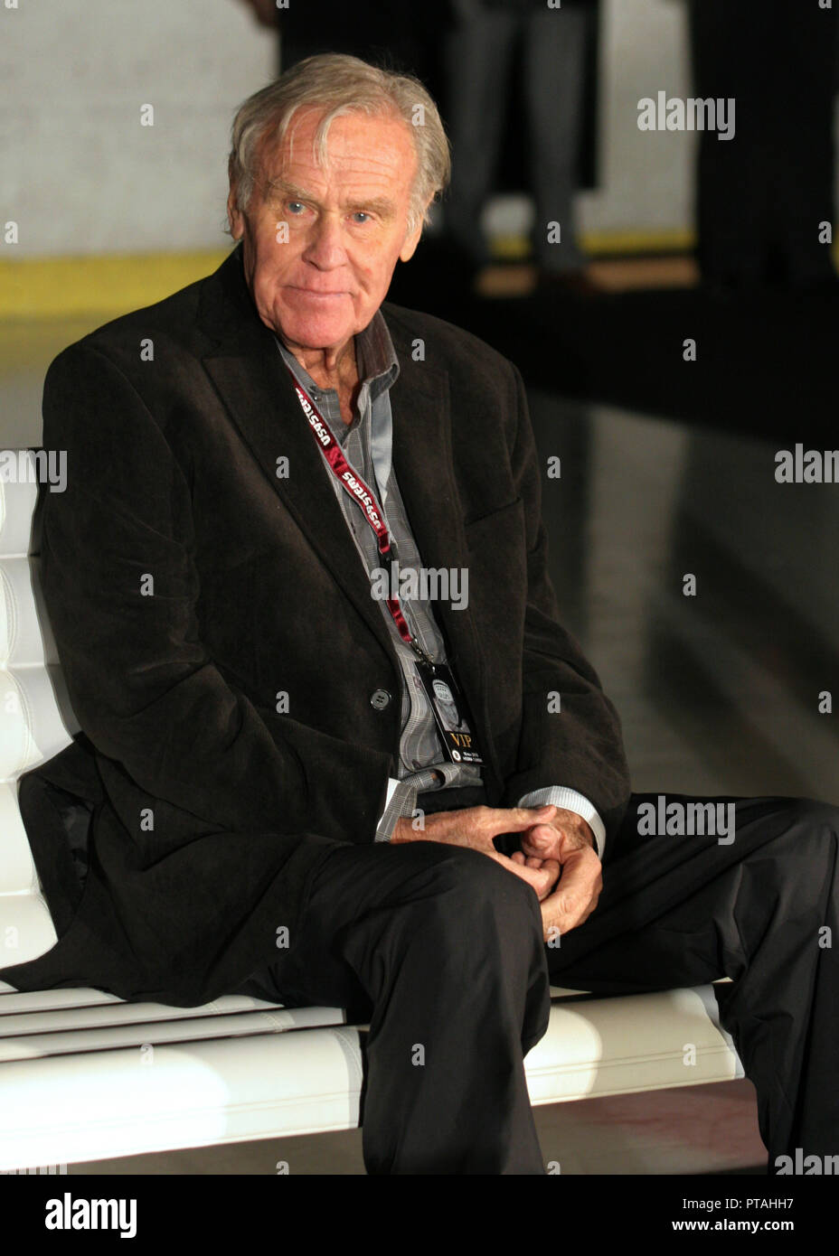 Swedish Icehockey legendary Sven Tumba at a tribute gala for him in the 80th anniversary - Stock Image