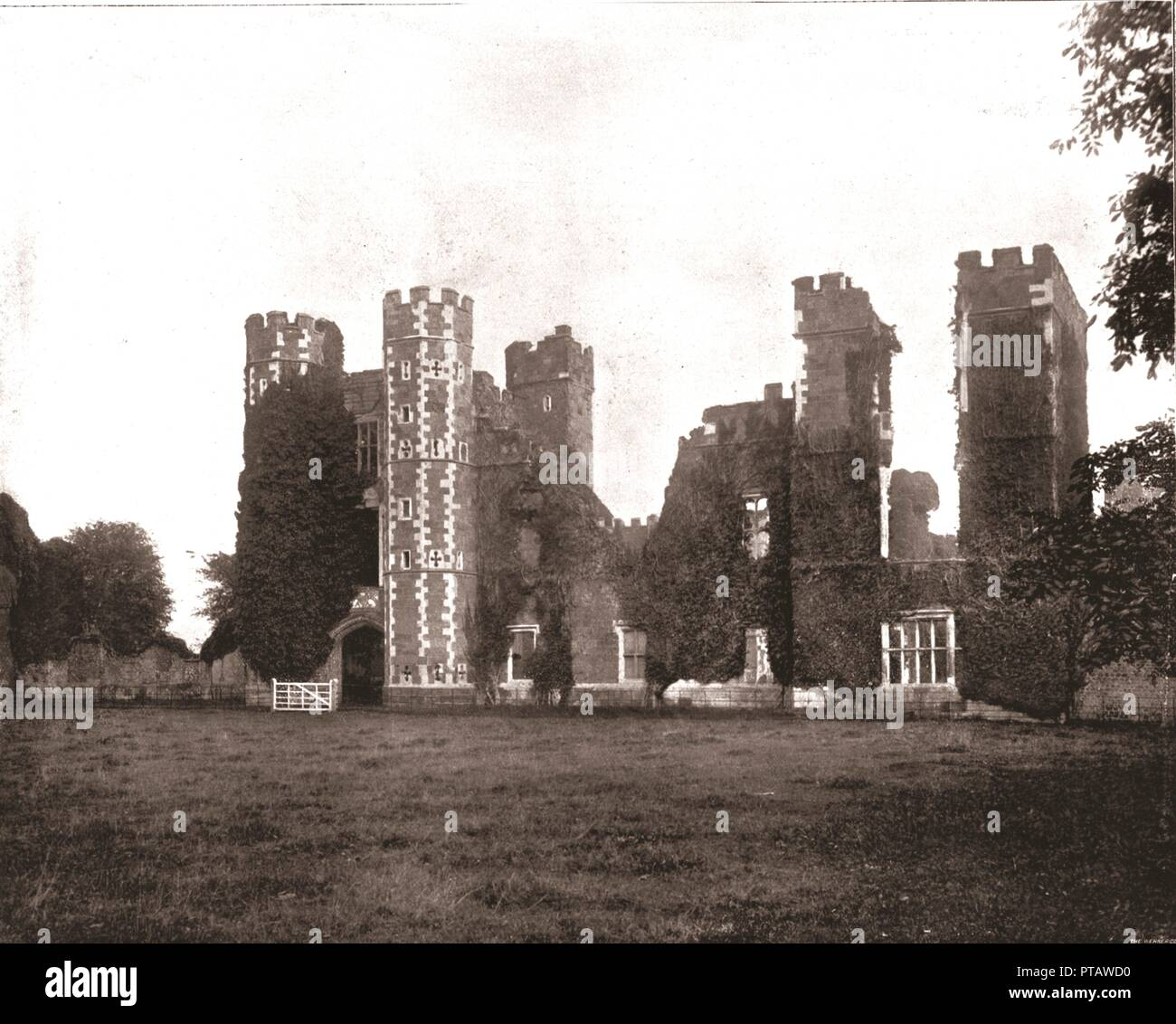 Cowdray House Midhurst Sussex 1894 Ruins Of The Tudor Mansion
