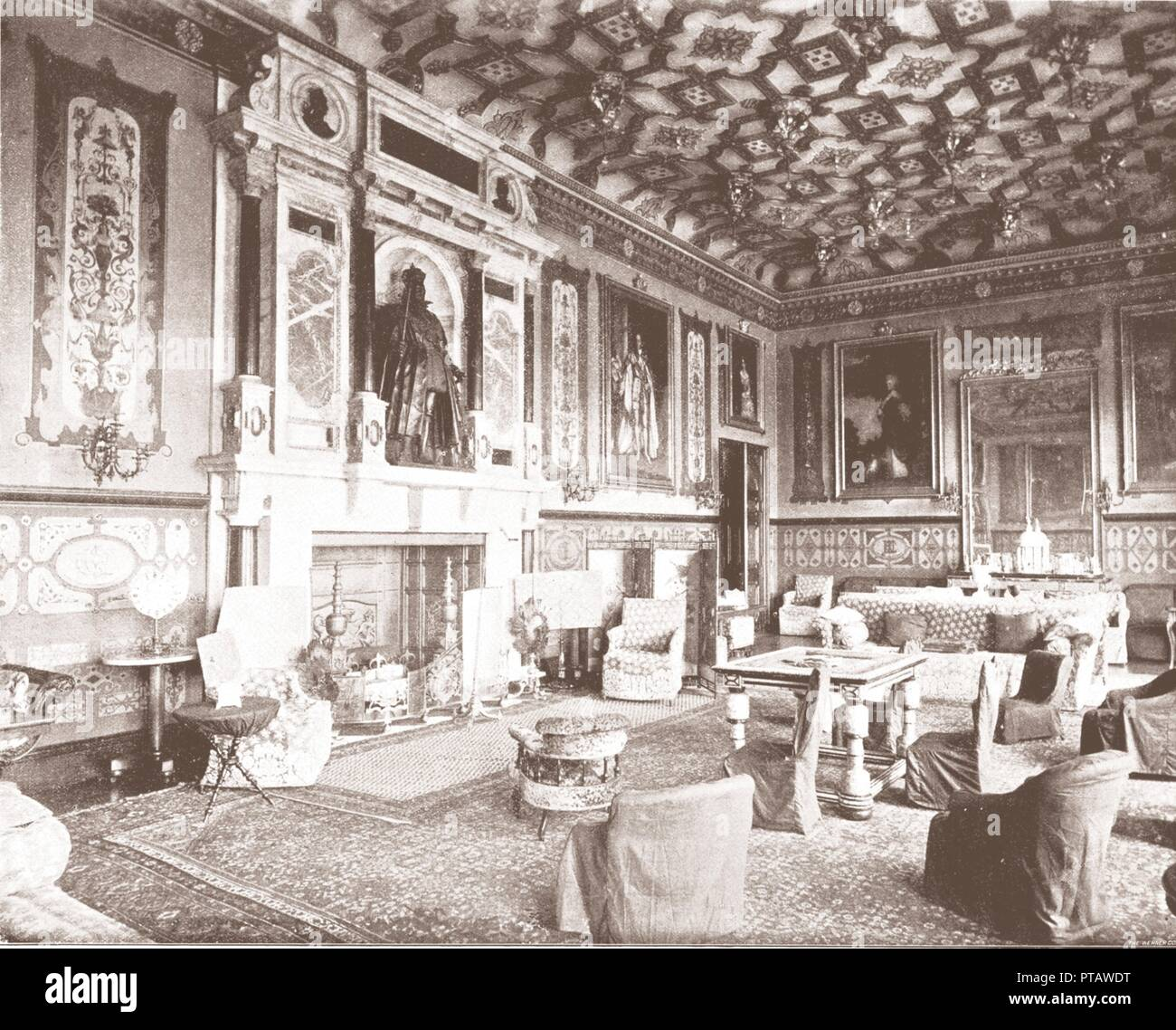 King Jamess Room Hatfield House Hatfield Hertfordshire 1894