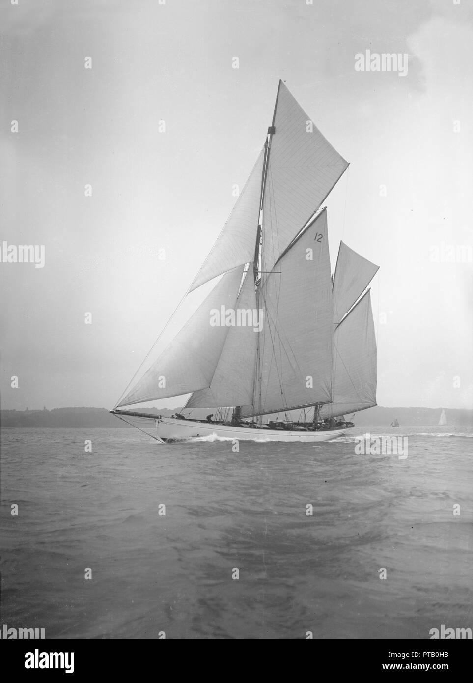 The 96 ft ketch 'Julnar', 1911. Creator: Kirk & Sons of Cowes. Stock Photo