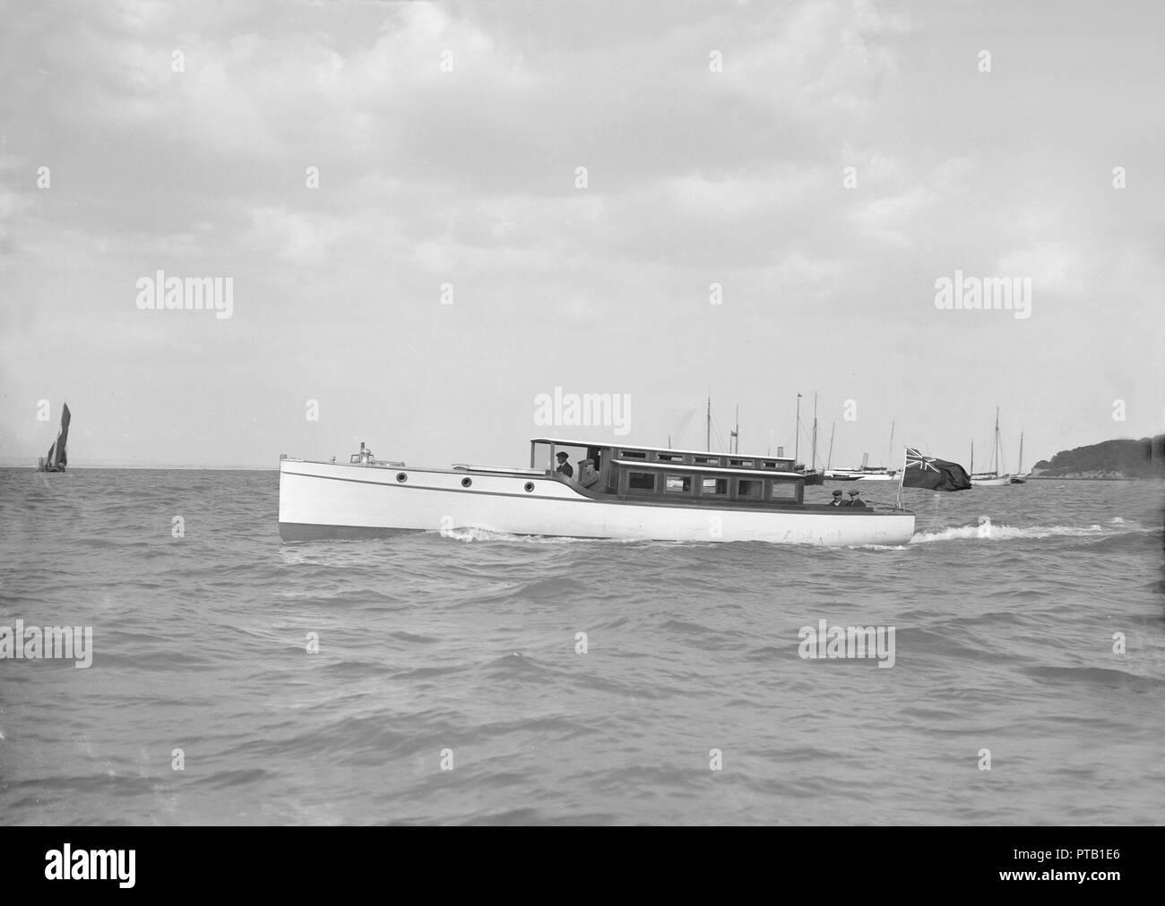 A 45 ft Wolseley cabin launch  The Wolseley Motors company, a