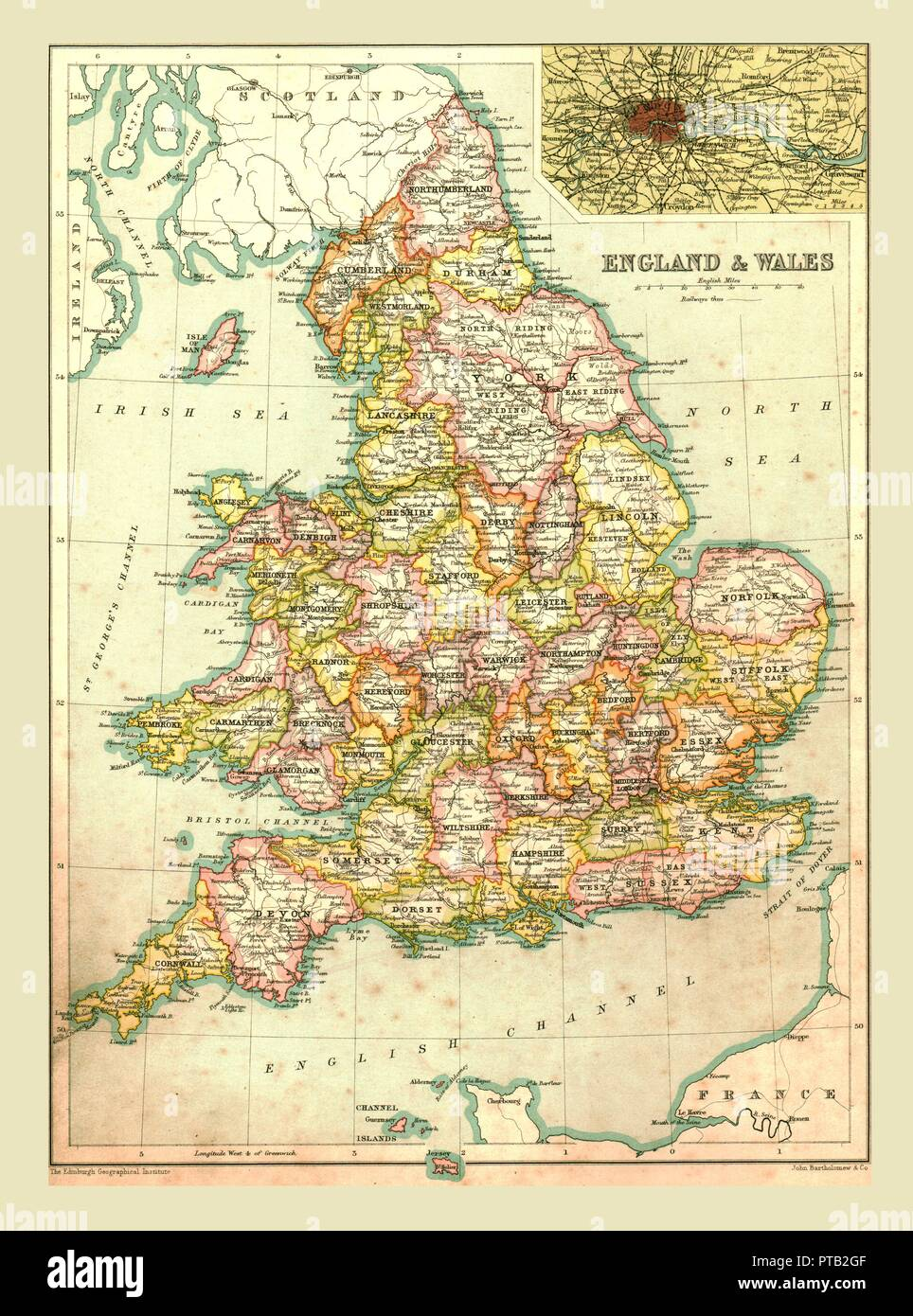 England Map Counties Stock Photos & England Map Counties Stock ... on