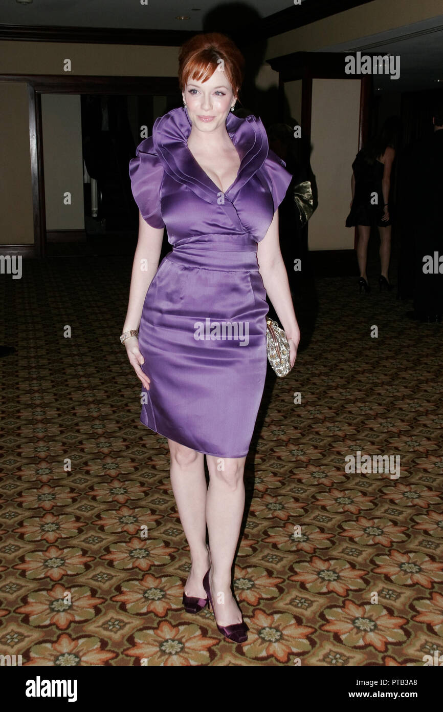 "Christina Hendricks  02/25/09 ""American Society of Cinematographers 23rd Annual Outstanding Achievement Awards""  @ Hyatt Regency Century Plaza Hotel, Century City Photo by Ryan Tartisel/HNW / PictureLux  File Reference # 33680 142HNW Stock Photo"