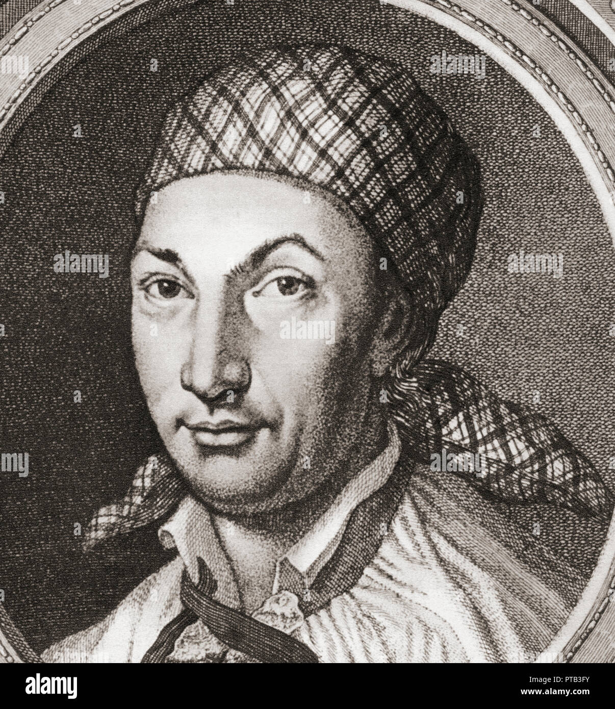 Johann Georg Hamann, 1730 – 1788.  German philosopher. - Stock Image