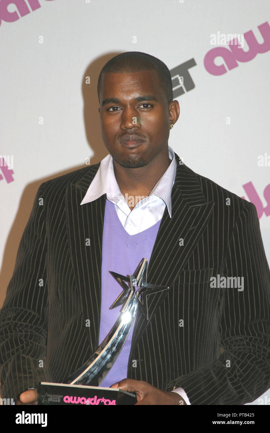 Kanye West  06/29/2004 4th ANNUAL BET Awards Press Room  @ Kodak Theatre, Hollywood Photo by Kazumi Nakamoto/HNW / PictureLux  File Reference # 33680_391HNW - Stock Image