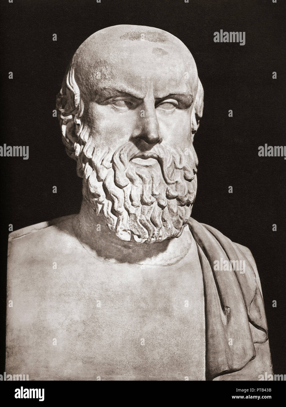Bust of Aeschylus, c. 525/524 – c. 456/455 BC.  Ancient Greek tragedian. - Stock Image