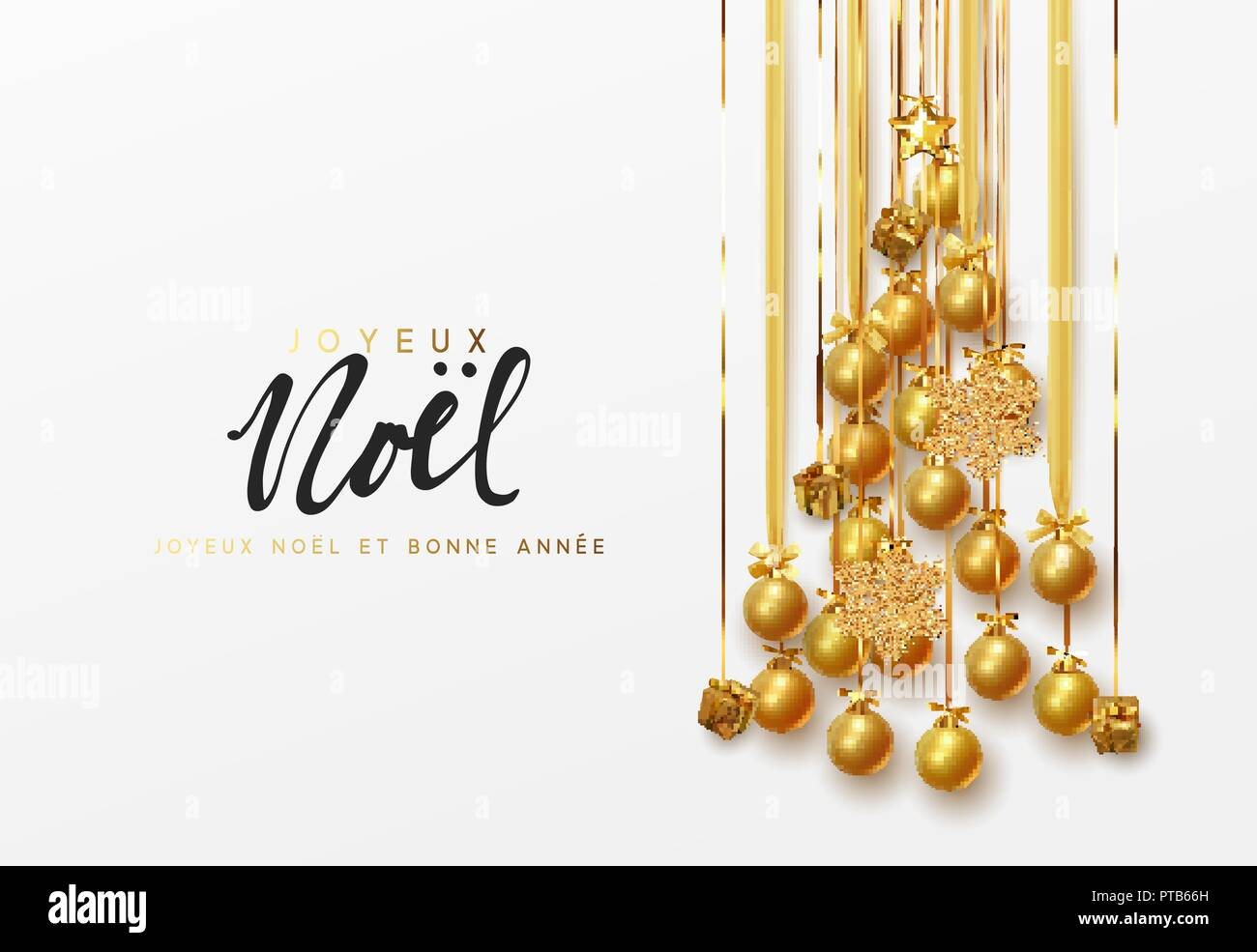 French lettering Joyeux Noel. Christmas greeting cards, banner ...