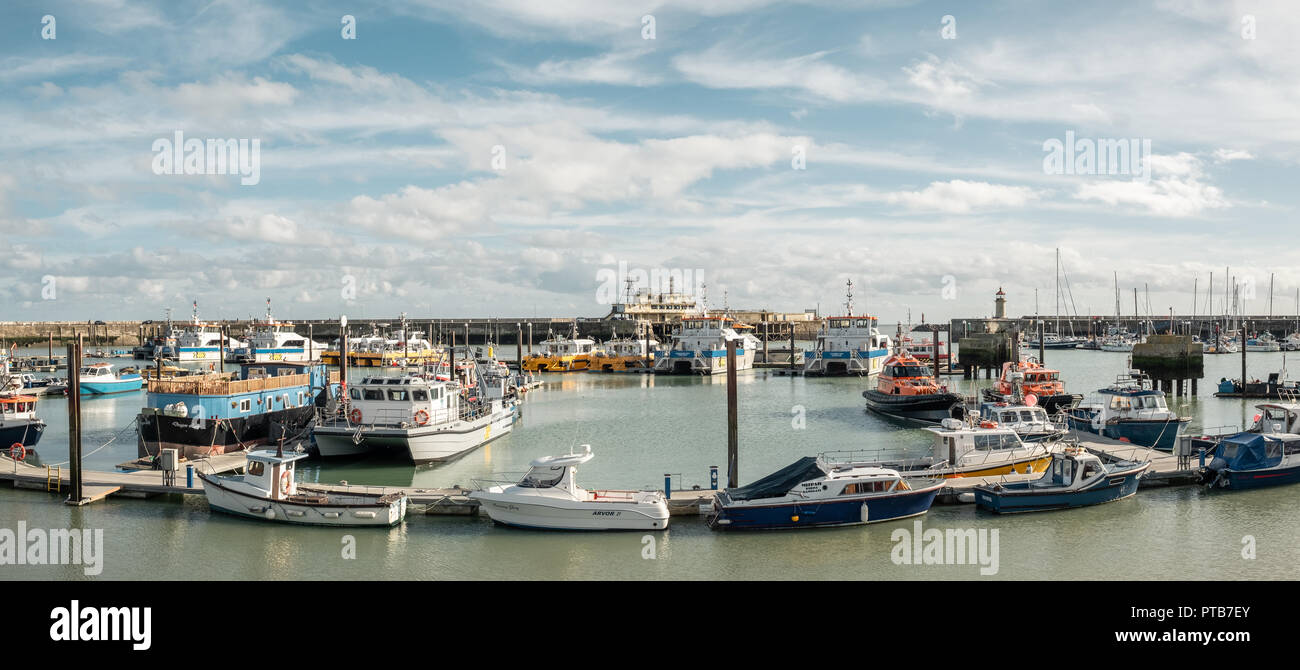 Ramsgate Harbour & Marina, Kent, UK - Stock Image