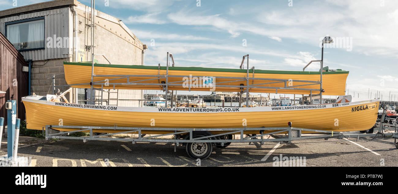 Row Boats, Ramsgate Harbour, Kent, UK - Stock Image