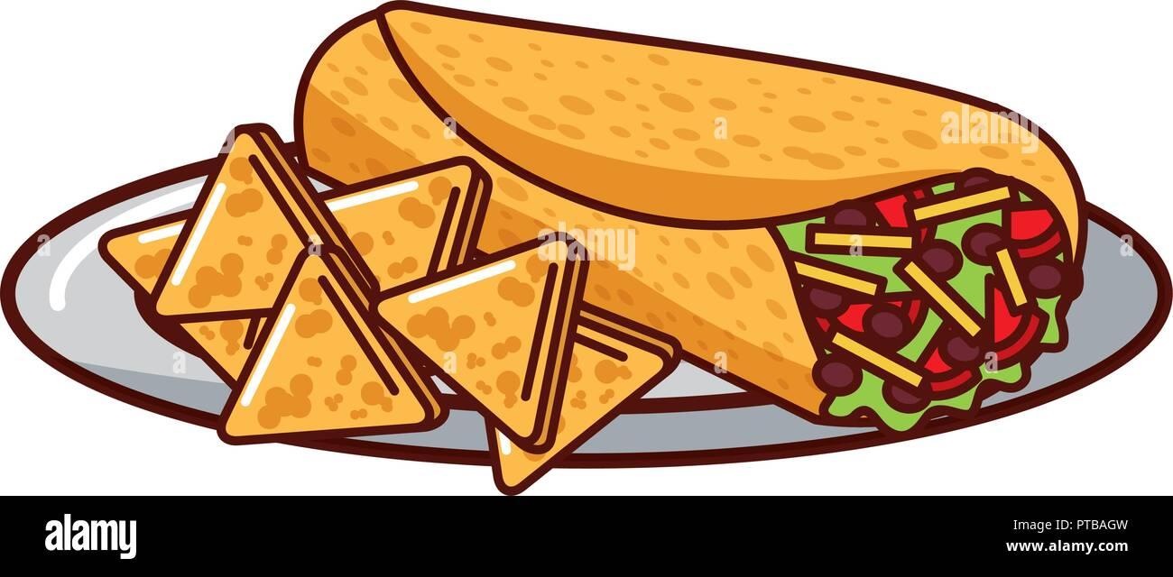 Set Of Traditional Mexican Food - Burrito, Taco   Traditional mexican food,  Mexican food recipes, Easy food art