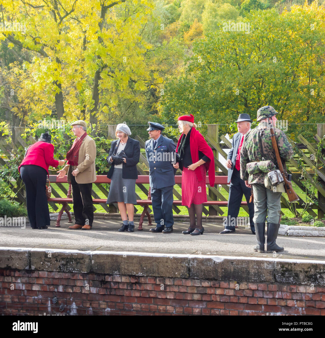Pickering Wartime weekend, North Yorkshire Moors Railway, Pickering, North Yorkshire, England. UK Stock Photo