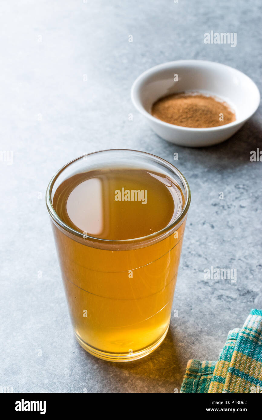 Concentrated Herbal Tea Powder for Stomach Gastric Problem / Lemon Flavored. Organic Beverage for Healthcare. Stock Photo