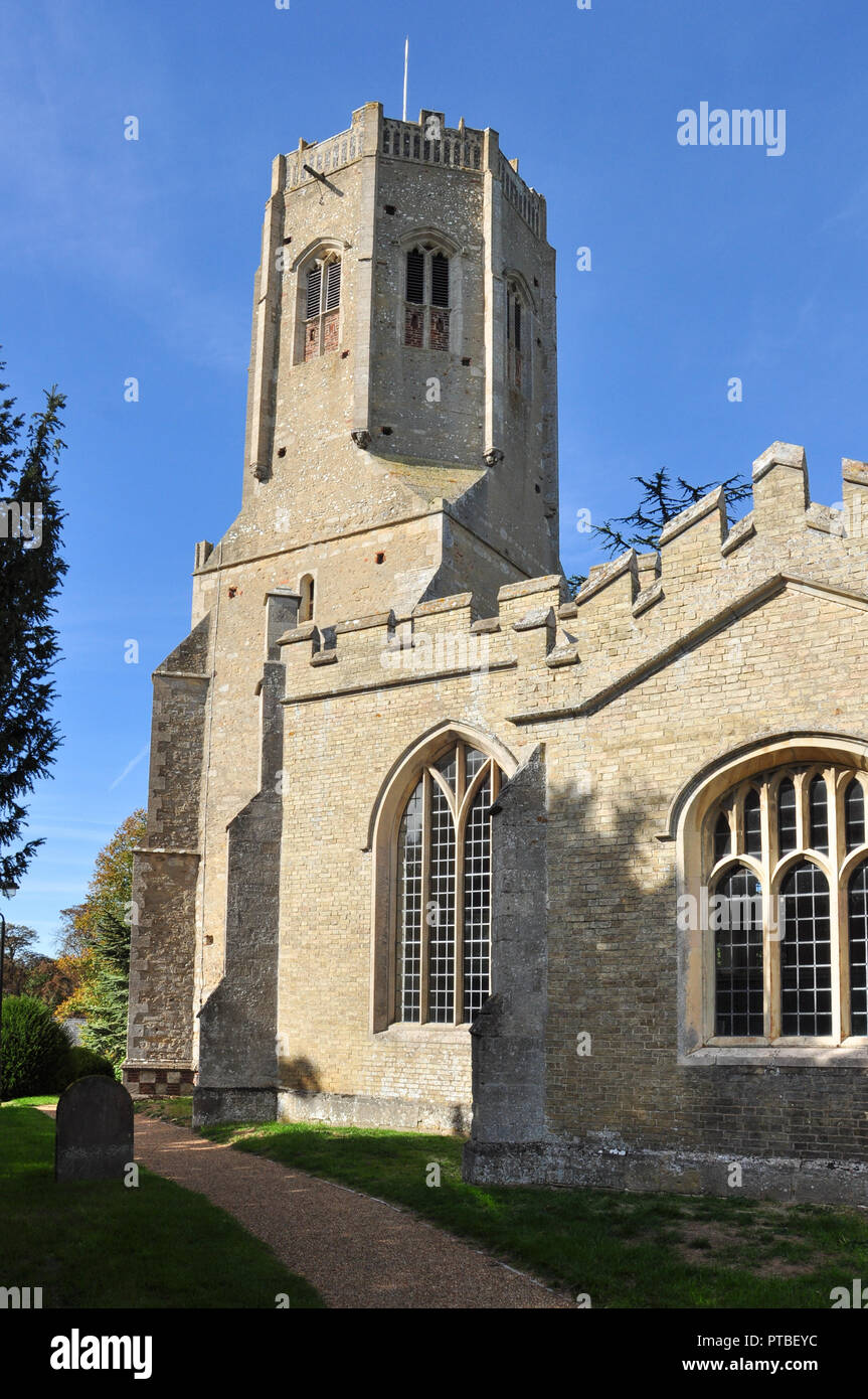 Redundant church of St Cyriac and St Julitta, Swaffham Prior, Cambridgeshire, England, UK - Stock Image