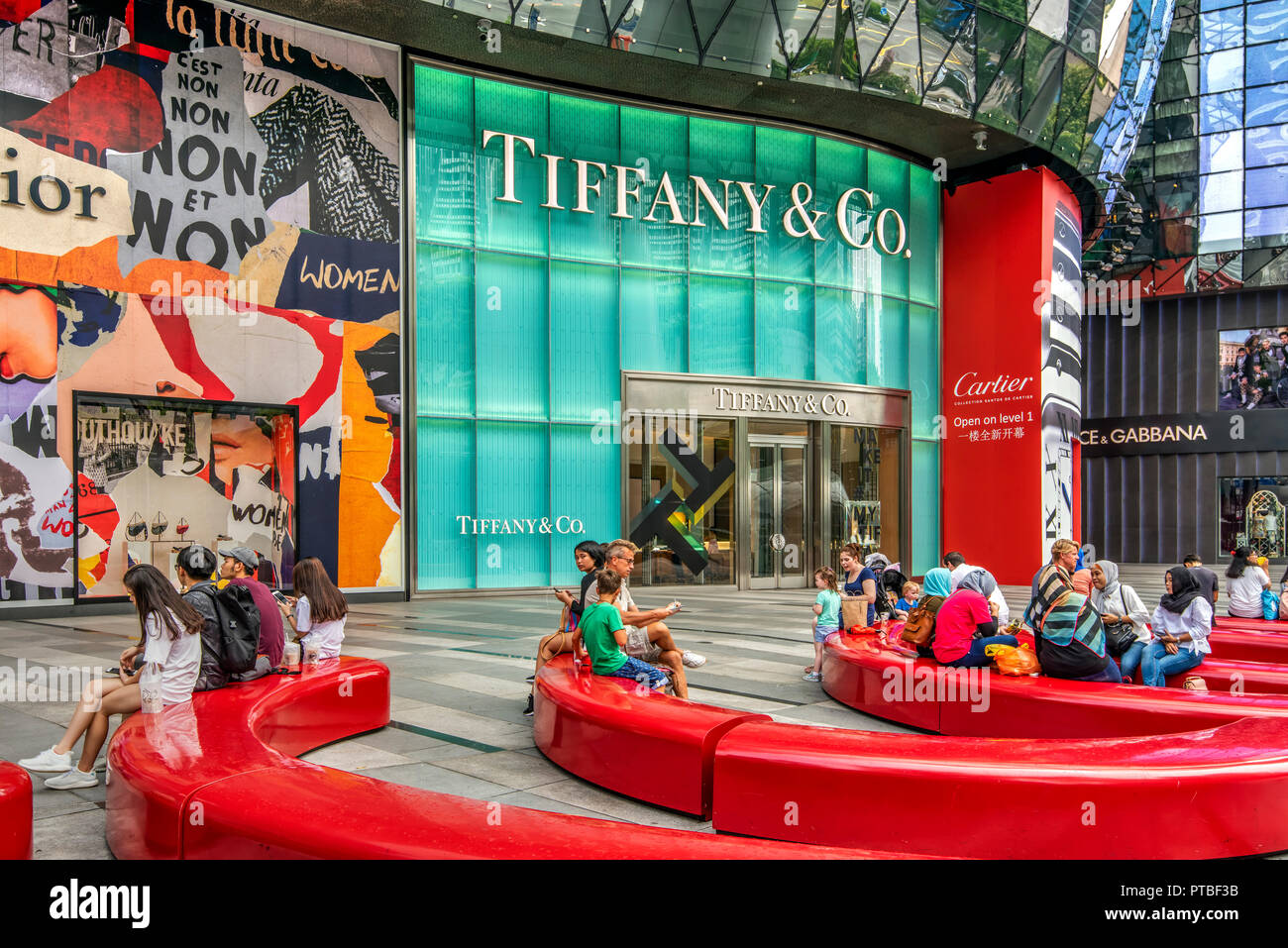 ION Orchard shopping mall, Singapore - Stock Image