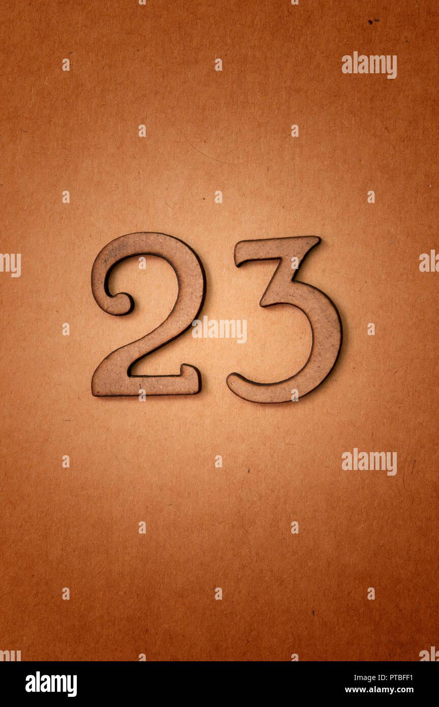 prime number twenty-three - Stock Image