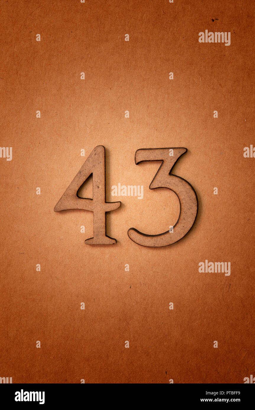 prime number forty-three - Stock Image