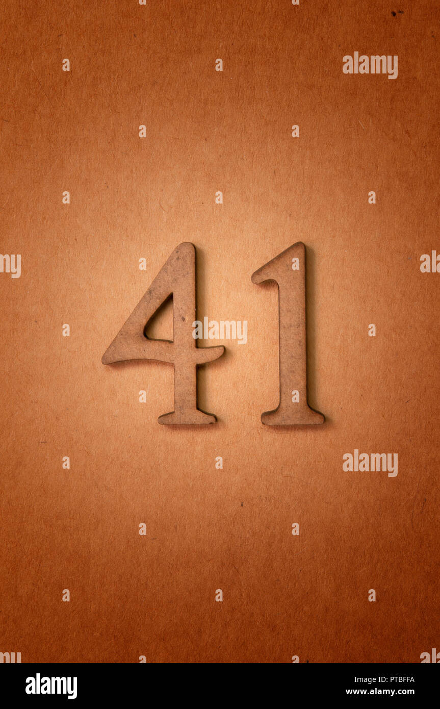 prime number forty-one - Stock Image