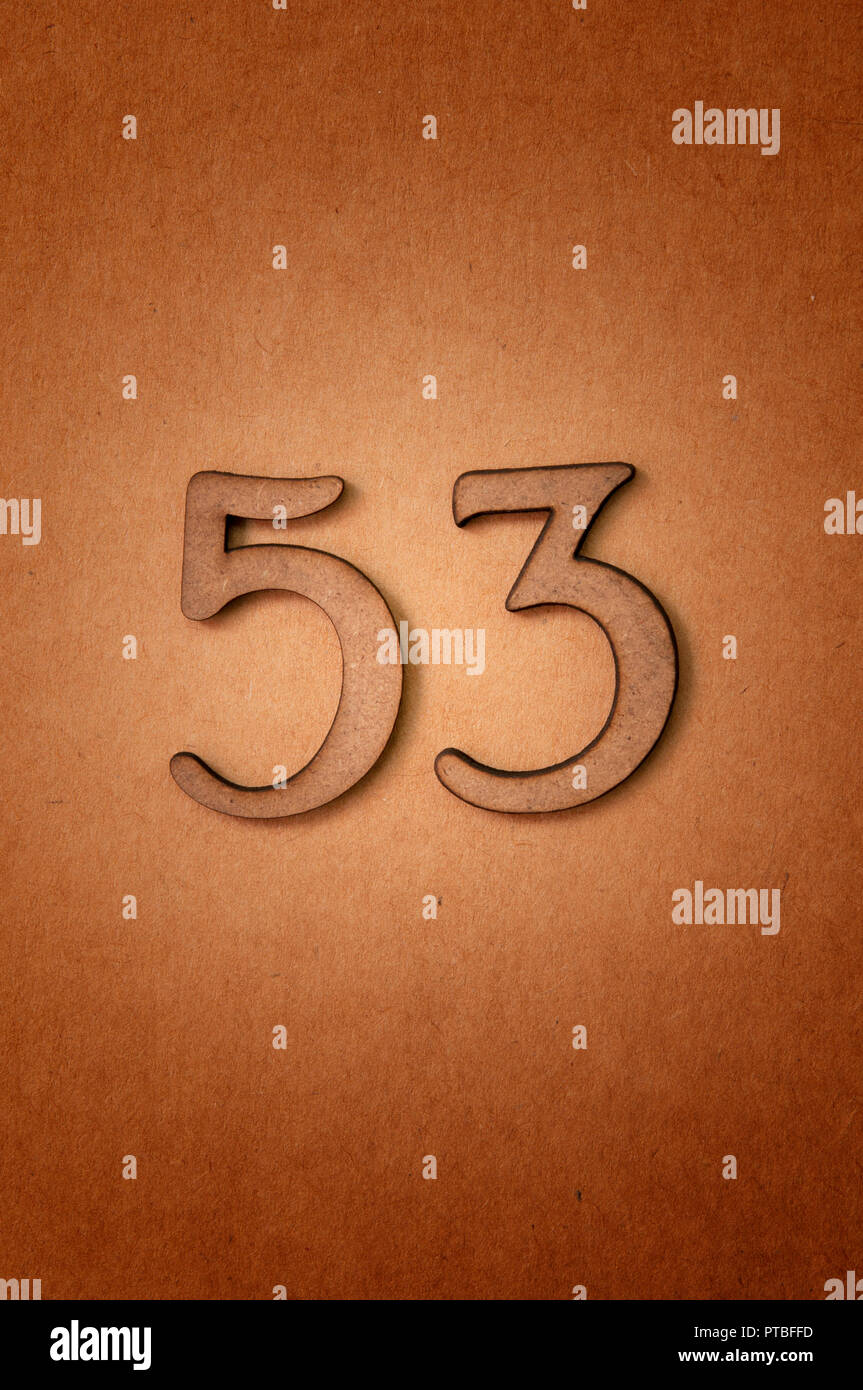 prime number fifty-three - Stock Image