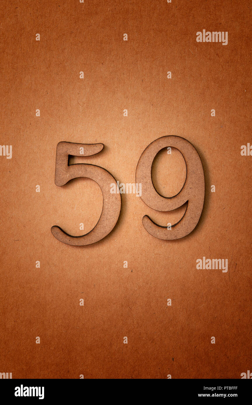 prime number fifty-nine - Stock Image