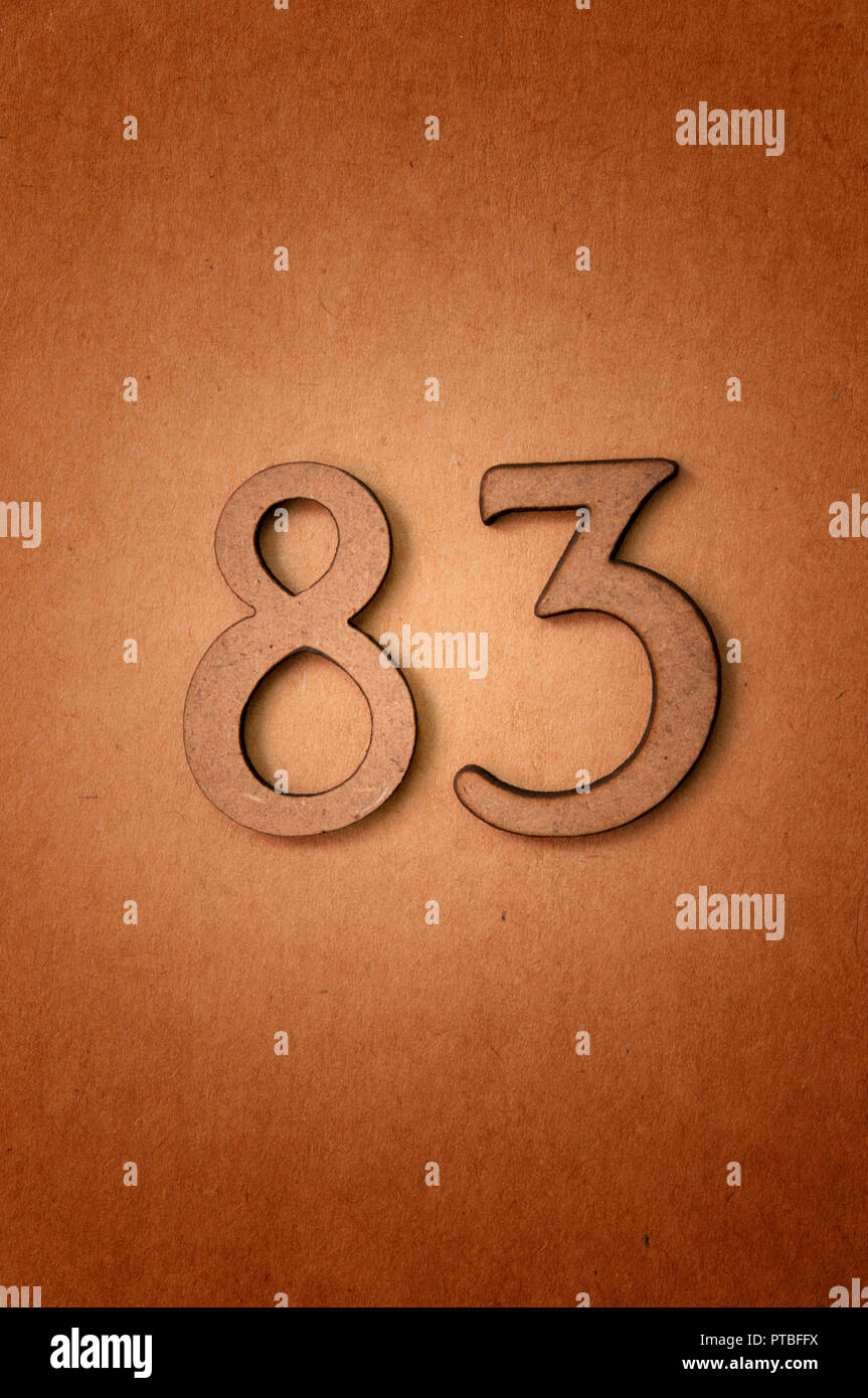 prime number eighty-three - Stock Image