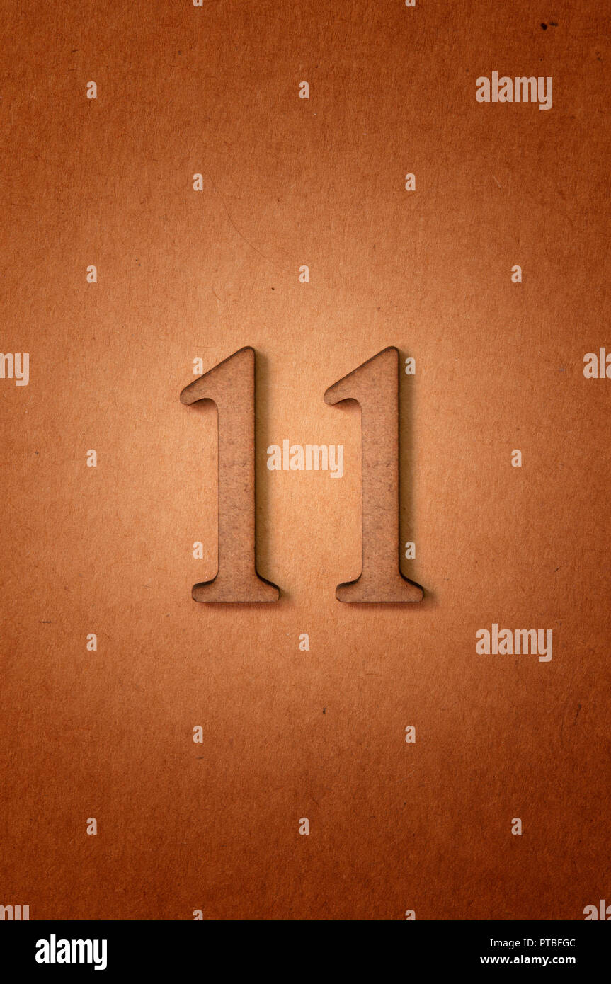 prime number eleven - Stock Image