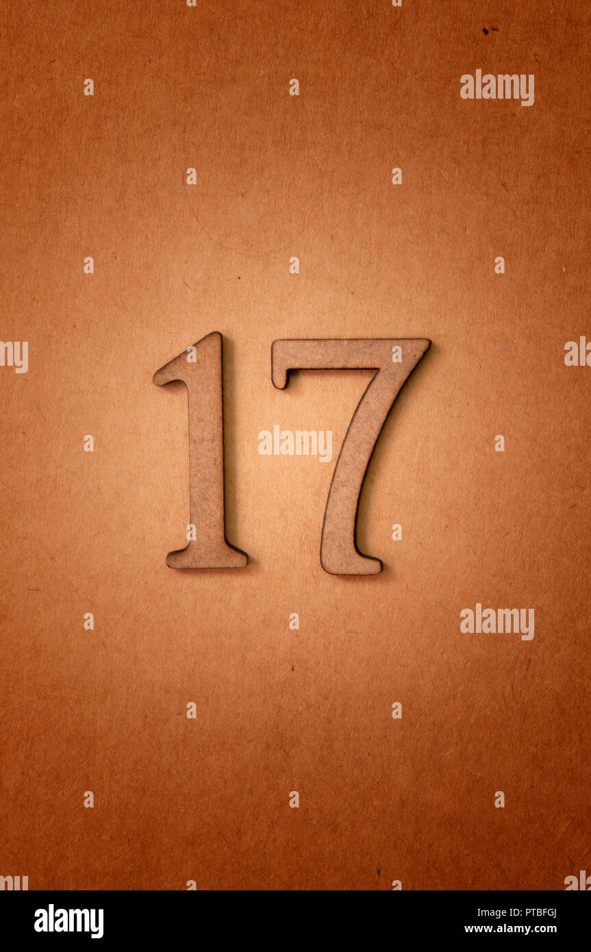 prime number seventeen - Stock Image
