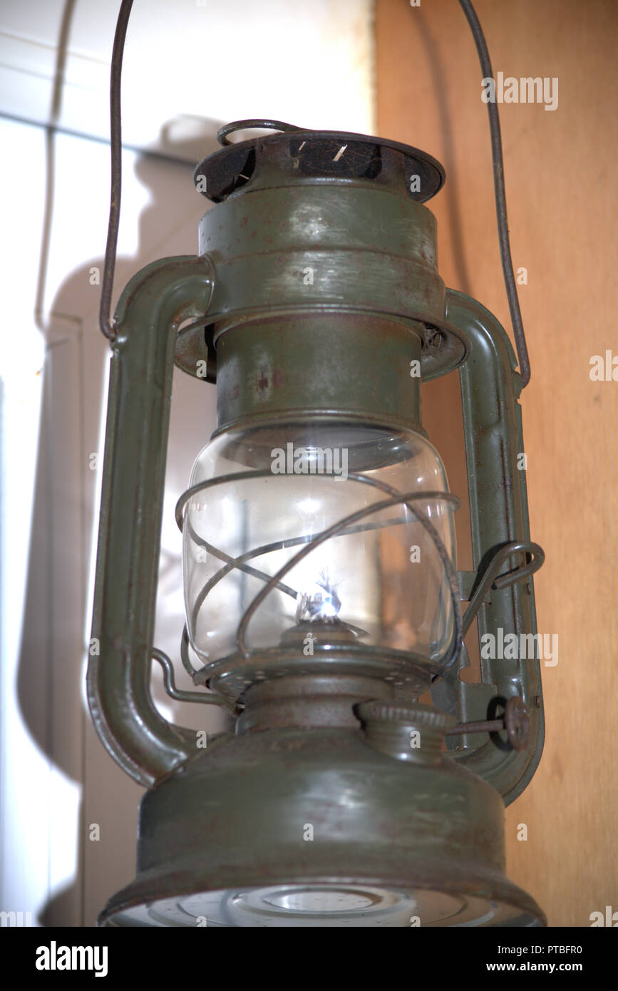 Kerosene or hurricane lamp - Stock Image