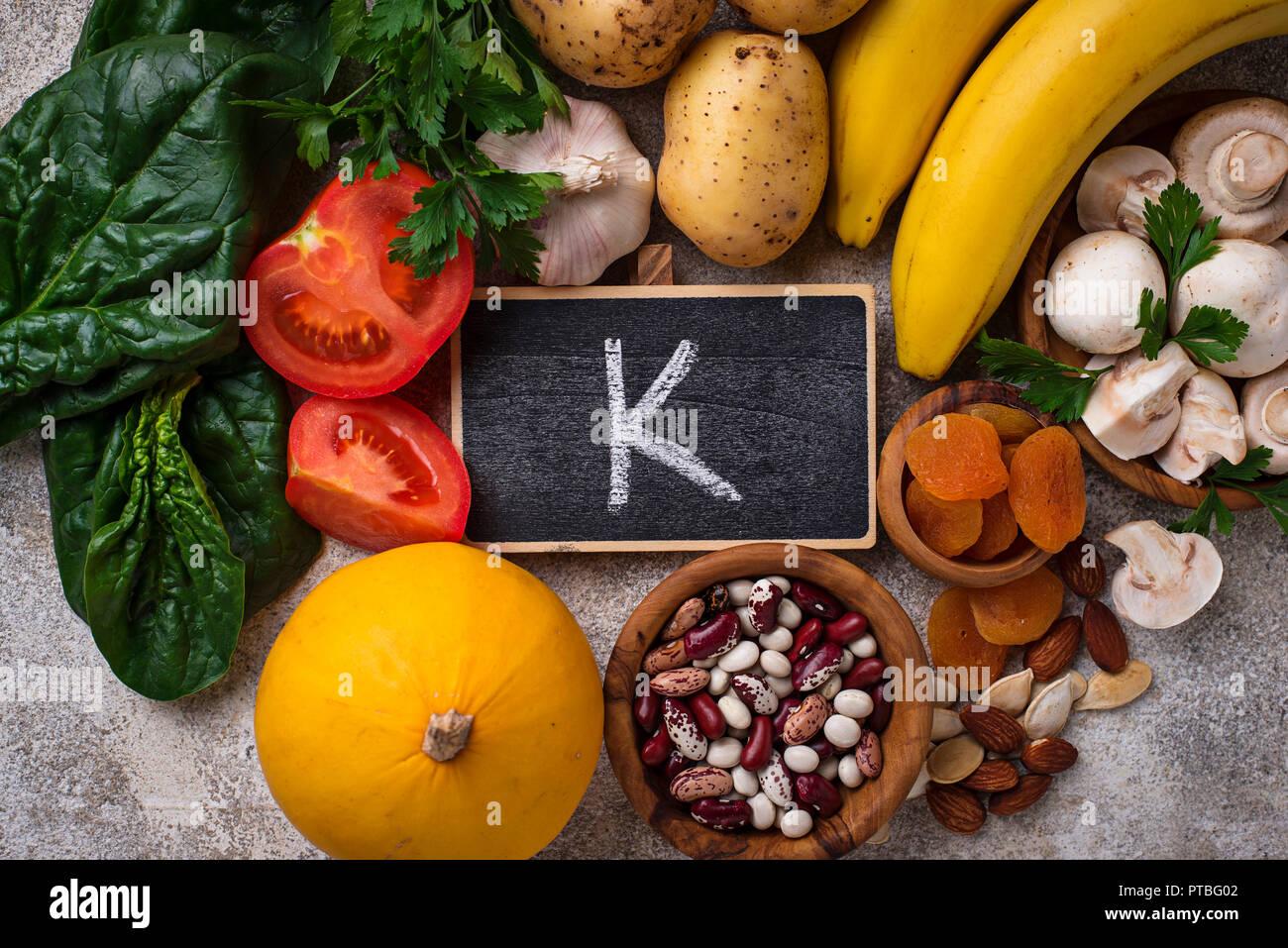 Products containing potassium
