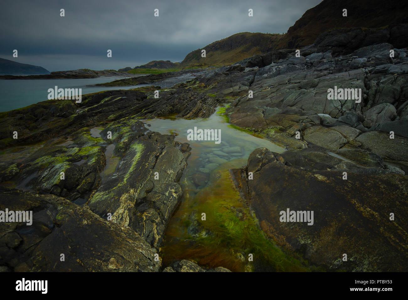 A rocky beach  Alesund -Norwegia - Stock Image