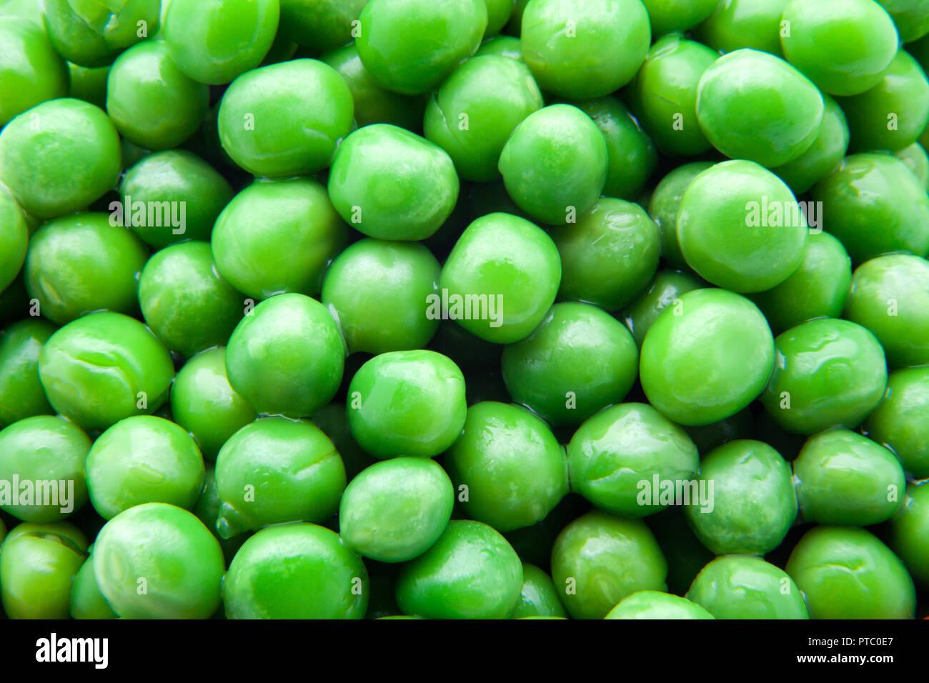 fresh green peas ready to eat Stock Photo