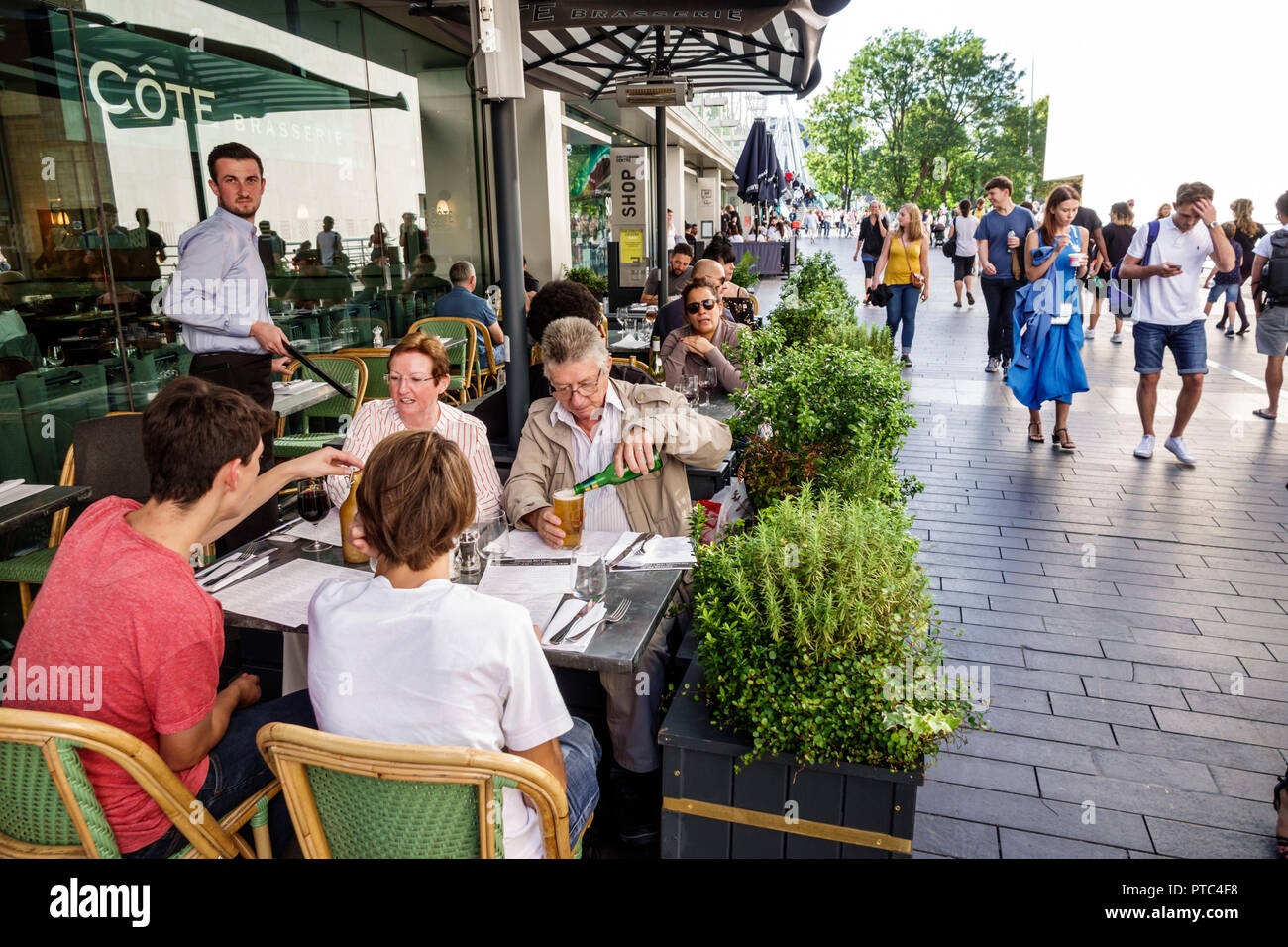 London England United Kingdom Great Britain Lambeth South Bank Southbank Centre center Festival Terrace Cote restaurant French cuisine brasserie alfre - Stock Image