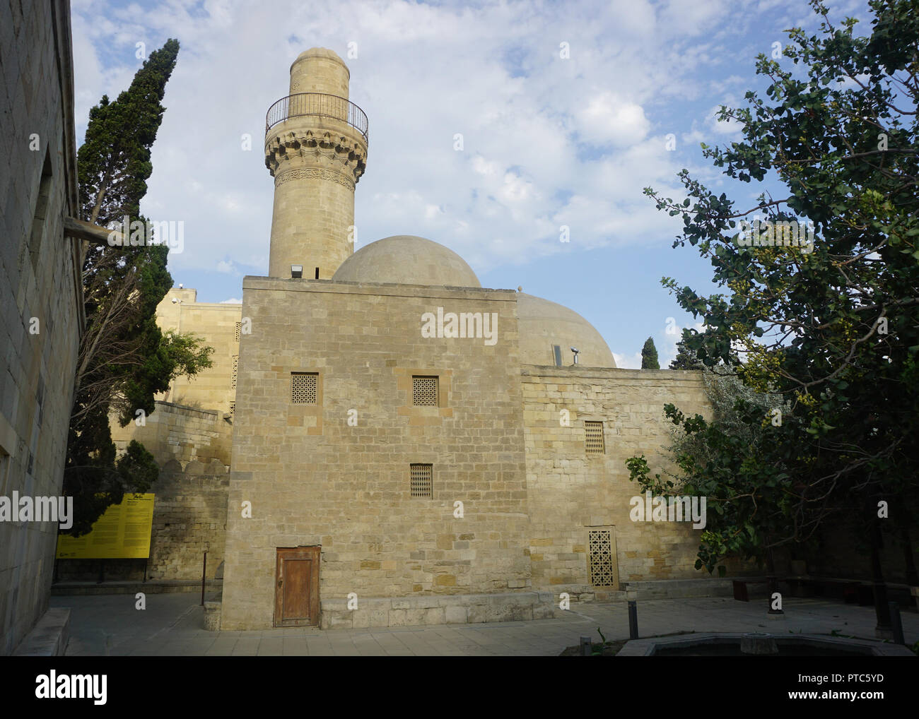 The Main Mosque at the Shirvanshahs Palace Complex in Baku - Stock Image