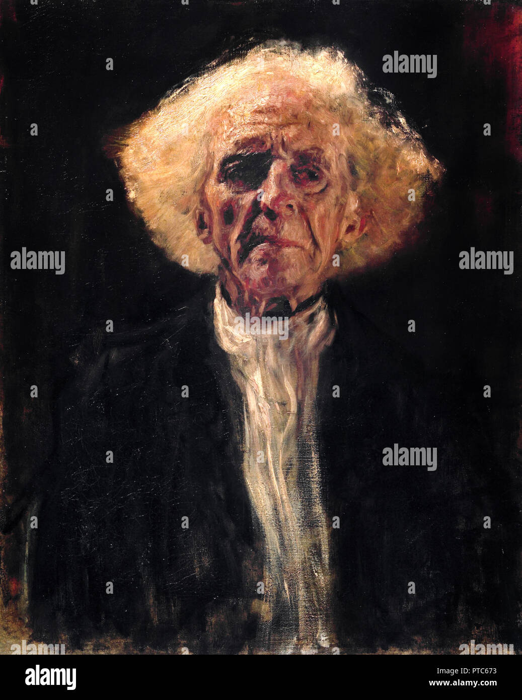 Gustav Klimt, Blind Man 1896 Oil on canvas, Leopold Museum, Vienna, Austria. - Stock Image