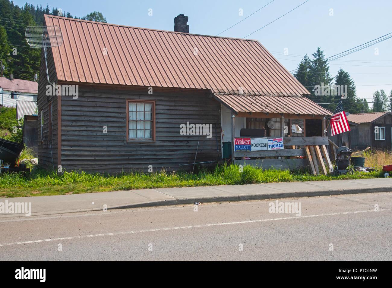 Wooden Houses Of Hoonah Alaska Usa Stock Photo 221544901 Alamy