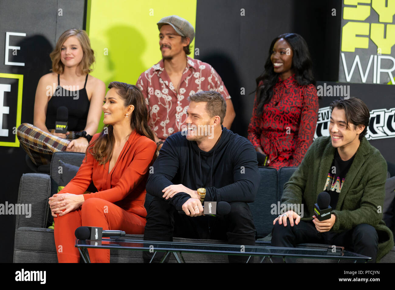 new york ny october 5 2018 titans tv show cast and crew attend