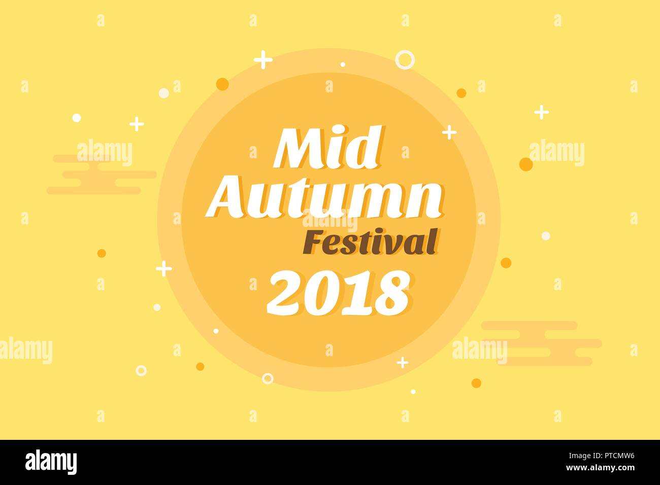 Chinese mid autumn festival banner design vector illustration Stock Vector