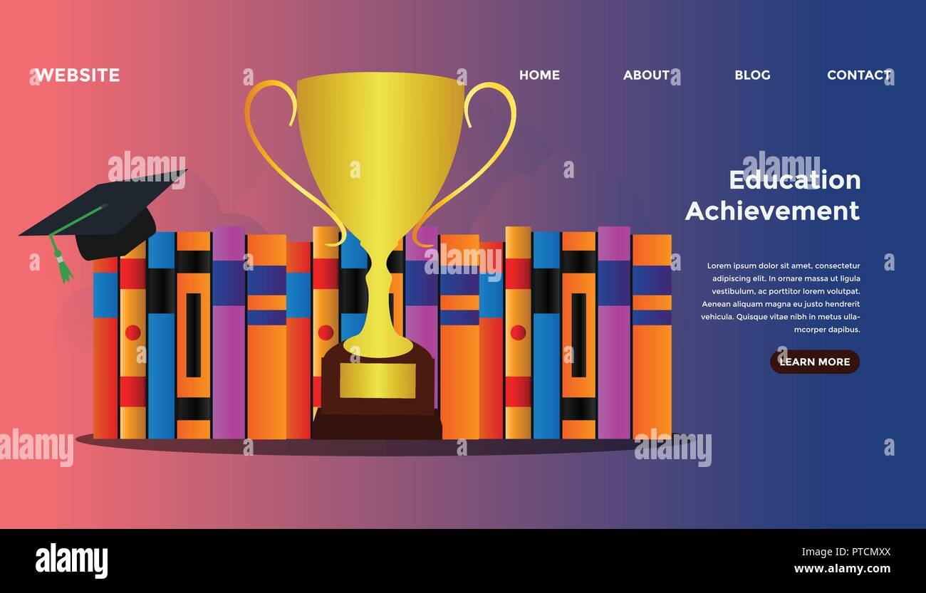 Education Goal Concept Ready To Use Vector Illustration Suitable For Background Wallpaper Landing Page Web Banner Card And Other Creative Work Stock Vector Image Art Alamy