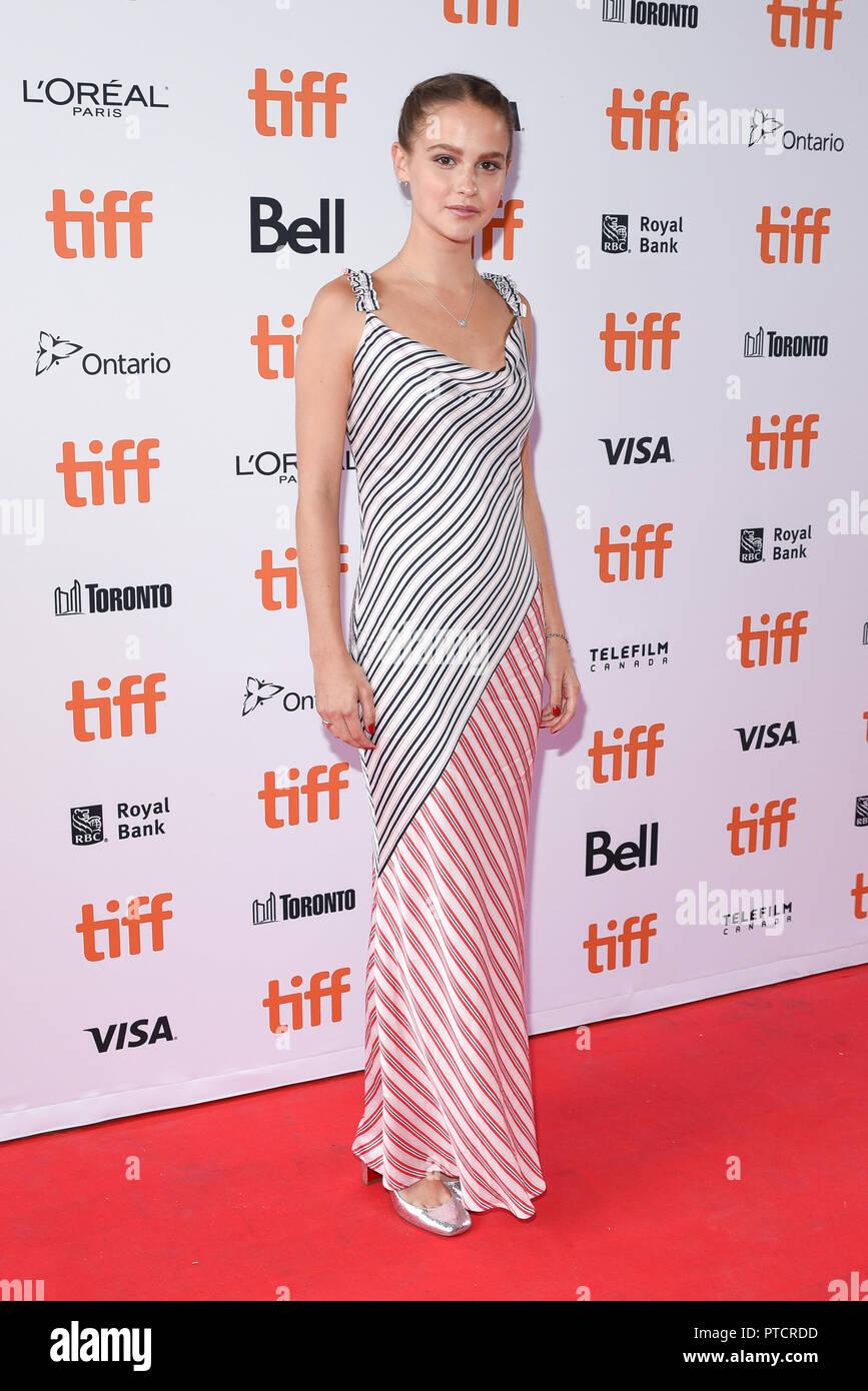 2018 Toronto Film Festival - 'Teen Spirit' - Premiere  Featuring: Clara Rugaard Where: Toronto, Canada When: 07 Sep 2018 Credit: Jaime Espinoza/WENN.com Stock Photo