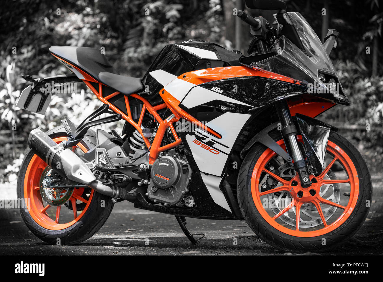 KTM RC390 Motorcycle - Stock Image