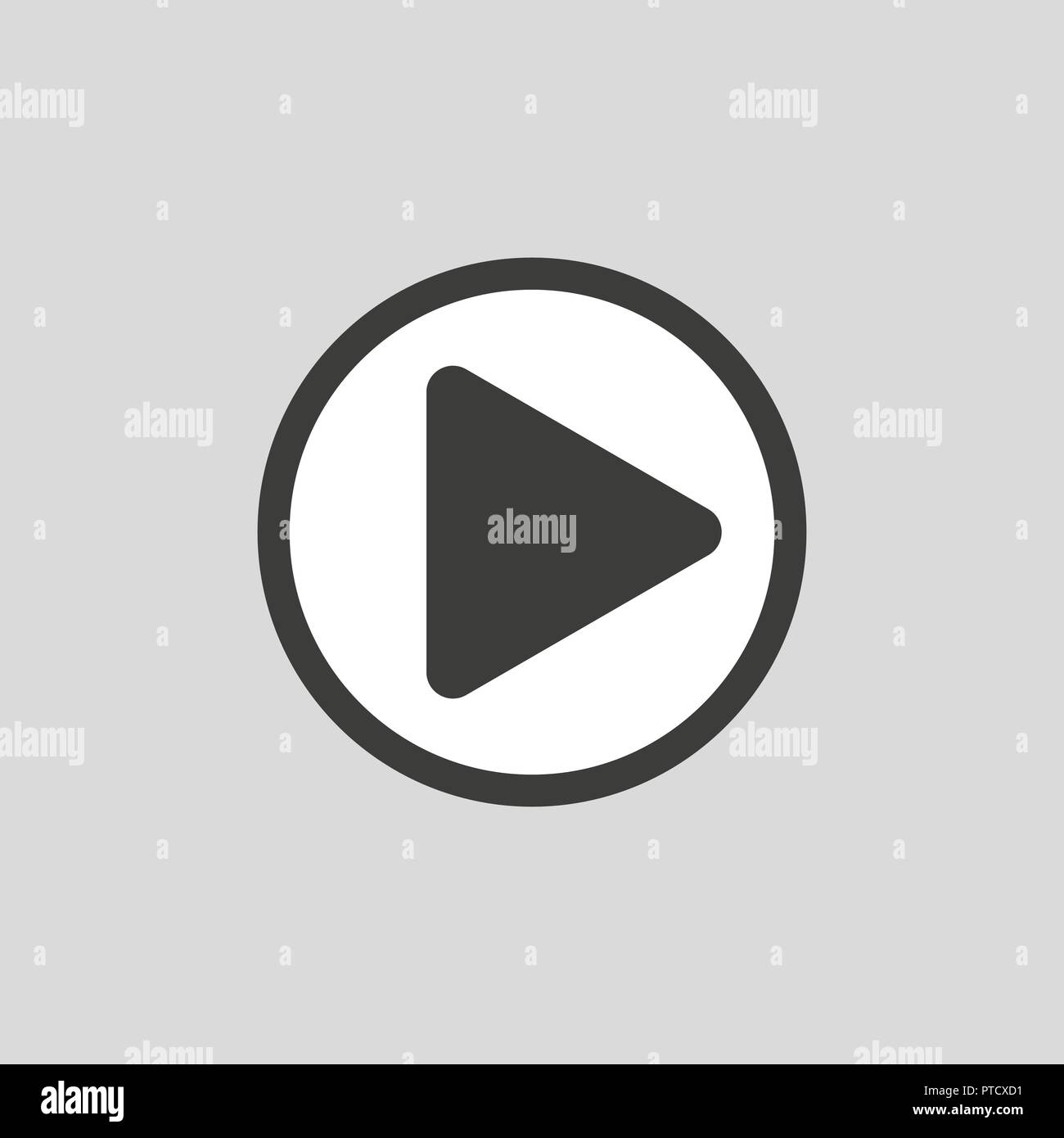 Chat video frame. Video player for web and mobile apps. Vector ...