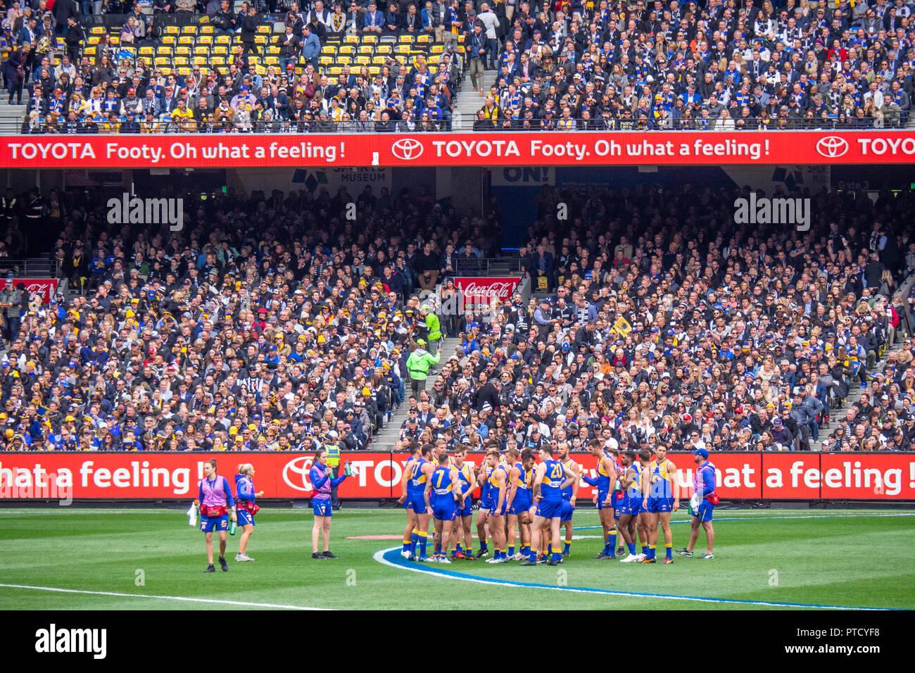 2018 AFL Grand Final at MCG Melbourne Victoria Australia. - Stock Image