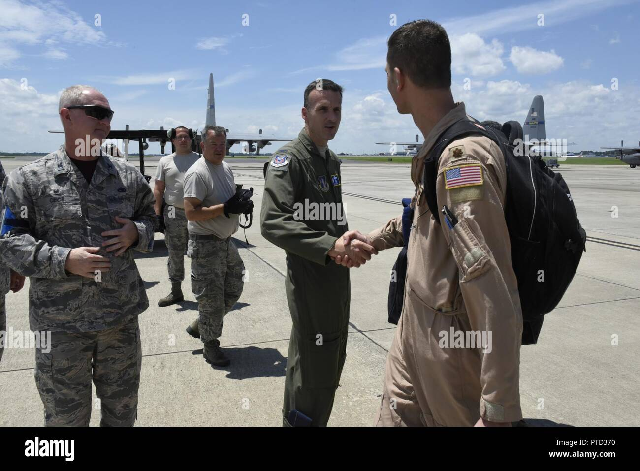 Photos of North Carolina Air National Guard Airmen returning from