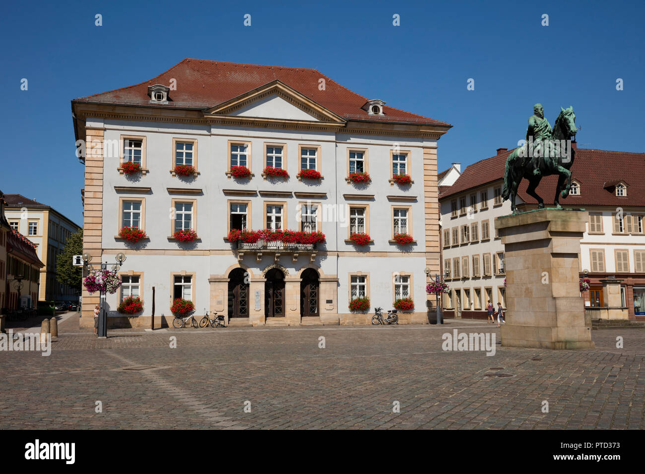 New Town Hall, town hall square, Landau in der Pfalz, Pfalz, Rhineland-Palatinate, Germany Stock Photo