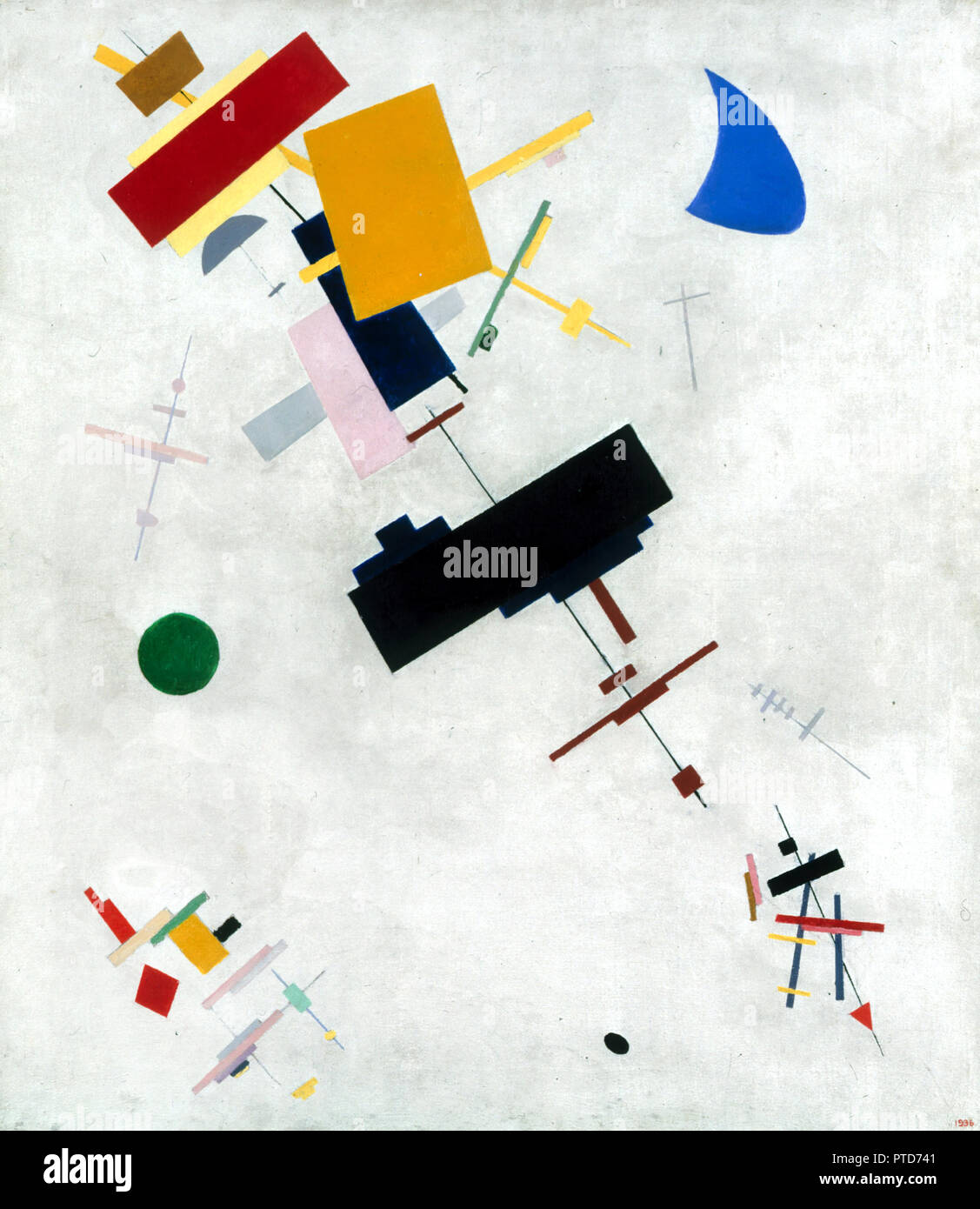 Kazimir Malevich, Suprematism 1915 Oil on canvas, Russian Museum, Saint Petersburg, Russia. - Stock Image