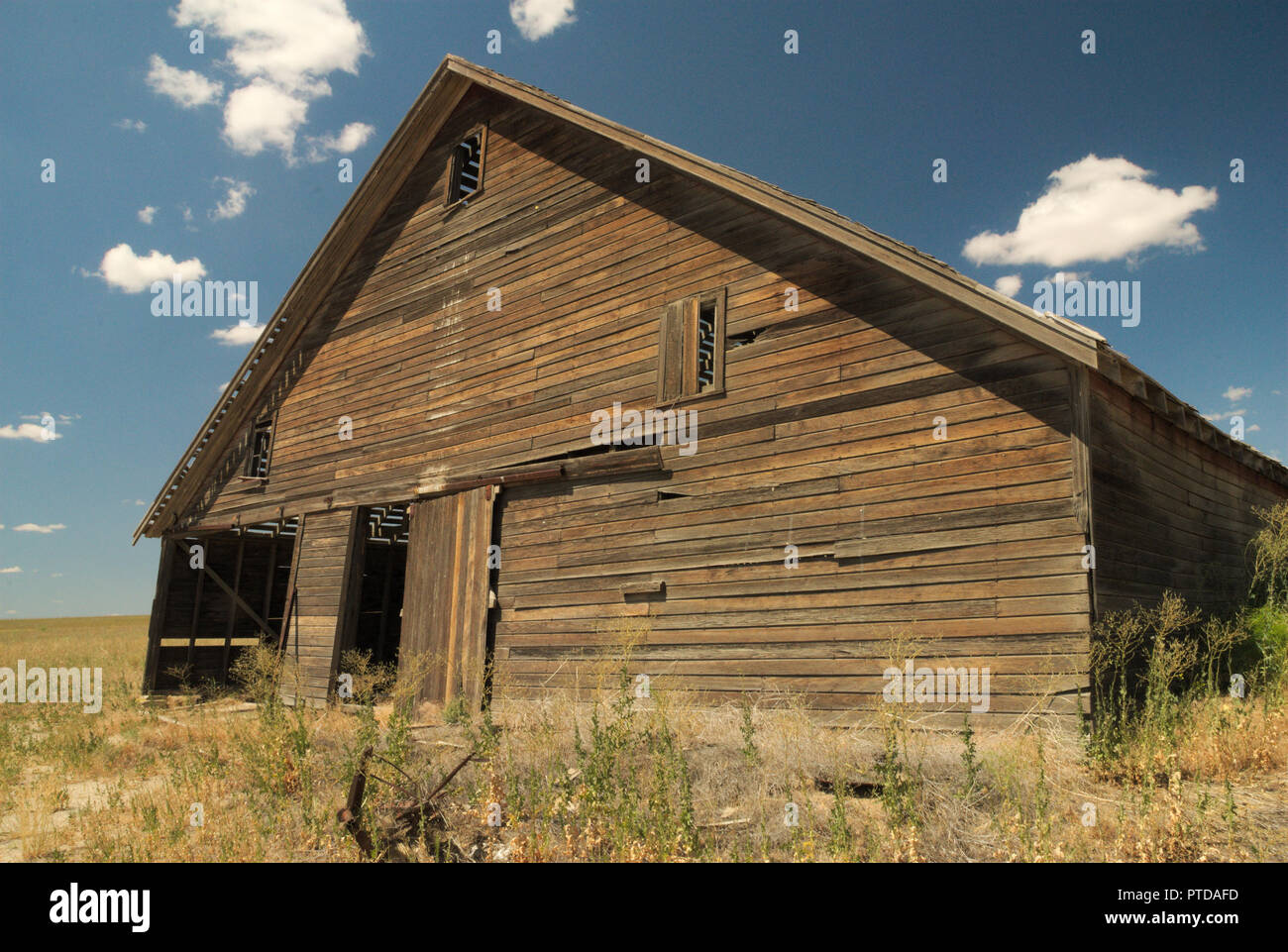 An Old Barn in Central Washington State, USA - Stock Image